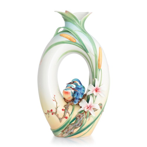 Franz Collection Kingfisher Large Vase Limited Edition