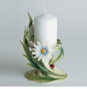"Franz Collection Ladybug 3"" Pillar Candle Holder"