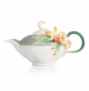 Franz Collection Magnificent Cattleya Orchid Teapot