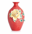 Franz Collection Peony on Lace Large Vase (Limited Edition 2,000)