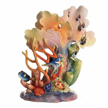 Franz Collection Porcelain By The Sea Large Vase (Limited Edition 2,000)