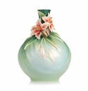 Franz Collection Porcelain Good Fortune Lily And Butterfly Vase