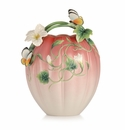 Franz Collection Porcelain Happy Family Butterfly Vase