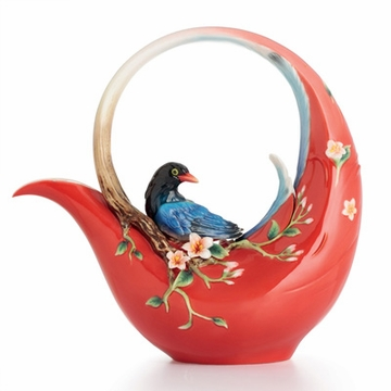Franz Collection Porcelain Joyful Magpie Teapot