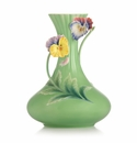 Franz Collection Porcelain When Happiness Knocks On The Door Pansy Vase