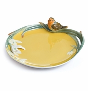 "Franz Collection ""Song Bird"" Robin Porcelain Ornamental Plate"
