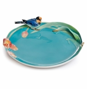 "Franz Collection ""Song Bird"" Swallow Porcelain Ornamental Plate"