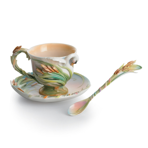 Franz Kathy Ireland u0027u0027The Southern Splendoru0027u0027 Swan Cup Saucer u0026 Spoon  sc 1 st  Distinctive Decor & Franz Kathy Ireland