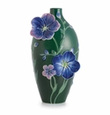 Franz Porcelain Collection Blue Flax Flower Small Vase