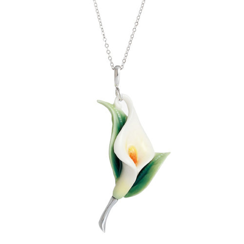 franz porcelain collection calla lily flower design