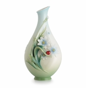 Franz Porcelain Collection Ladybug Small Vase