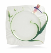 Franz Porcelain Collection Peace & Harmony Bamboo Porcelain Ornamental Square Plate