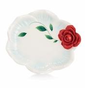 Franz Porcelain Collection Romance Of The Rose Large Tray