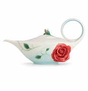 Franz Porcelain Collection Romance Of The Rose Teapot