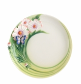 Franz Porcelain Cosmos Of Color - Butterfly Cake Plate