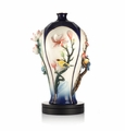 Franz Porcelain Peace Of The Four Seasons Vase W/ Wooden Base (Limited Edition 988)