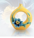 Franz Porcelain Strength and Will Blue Poppy Collection