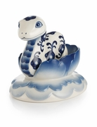 Franz Porcelain Wonderful Time Blue & White Snake Figurine