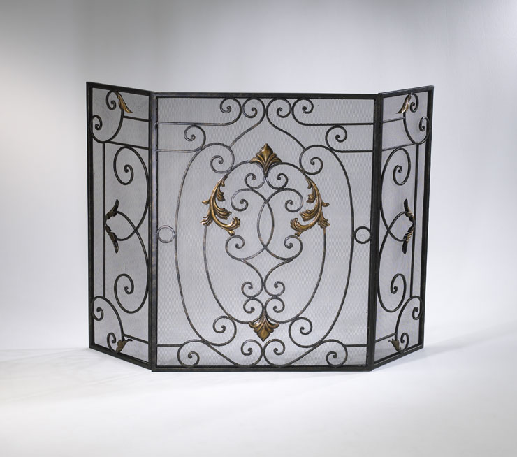 french fireplace screen by cyan design. Black Bedroom Furniture Sets. Home Design Ideas