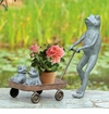 Frog Family With Wagon Planter by SPI Home