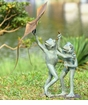 Frog Kite Flyers Garden Sculpture by SPI Home