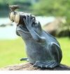 Frog Spectator with Bird Figure by SPI Home