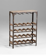 Gallatin Free Standing Wine Rack by Cyan Design