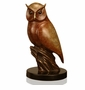 Gallery Brass and Marble Nightflyer Owl Sculpture by SPI Home
