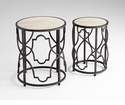 Gatsby Ebony and Wood Round Tables by Cyan Design