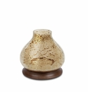 GG Collection 10H Wooden Candle Holder With Glass