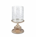 GG Collection 20.5H Wooden Candle Holder With Foil Glass