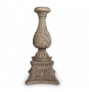 """GG Collection 30"""" Floor Candlestick Cast Stone"""