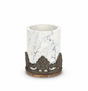 GG Collection Antiquity Marble And Cast Aluminum Utensil Holder