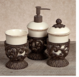 Gracious goods collection bath vanity accessories for Bathroom decor home goods