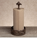 GG Collection Gracious Goods Brown Metal Paper Towel Holder