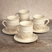 GG Collection Gracious Goods Ceramic Cup & Saucer Sets (4)