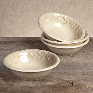 GG Collection Gracious Goods Ceramic Round Salad Bowls (4)