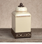 GG Collection Gracious Goods Medium Cream Ceramic Canister