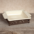 Gg Collection Gracious Goods Small Oval Tray With Antiqued