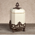 GG Collection Gracious Goods Small Provencial Canister with Metal Base