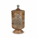 GG Collection Wood And Metal Large Canister