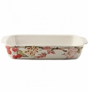 Gien Bouquet Floral Rectangular Baker Large