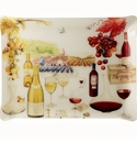 Gien Bouquet Wine Acrylic Serving Tray Large