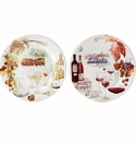 Gien Bouquet Wine Assorted Dessert Plates Set of 4