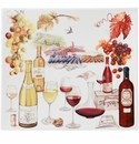 Gien Bouquet Wine Square Plate