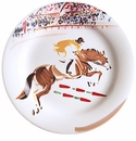 Gien Cavaliers Canape Plates Jump Set of 4