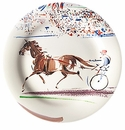 Gien Cavaliers Canape Plates Trot Set of 4