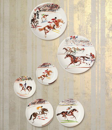 & Gien Cavaliers Horse Dinnerware Collection