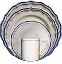 Gien Filet Bleu 4 Piece Dinnerware Placesetting