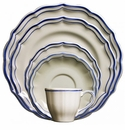 Gien Filet Bleu 5 Piece Dinnerware Placesetting
